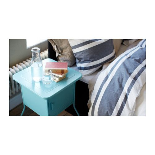 ikea vettre nightstand inside there is room for an outlet strip for your to move since the bedside table has casters