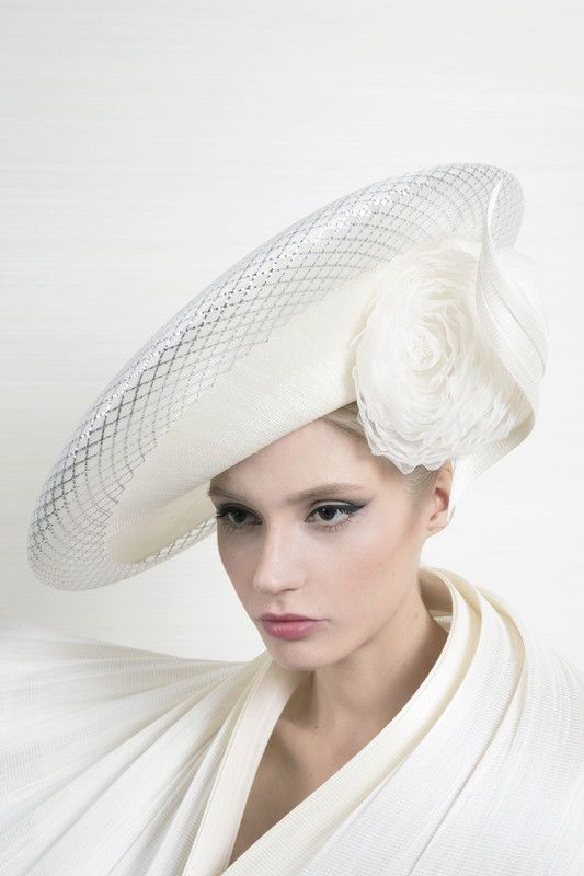 Philip Treacy London | Sinamay Slice | Ivory and Wide Brim Hats | LOVEHATS.COM