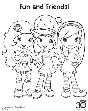 42 best strawberry shortcake coloring pages images on for Strawberry shortcake coloring pages free printable