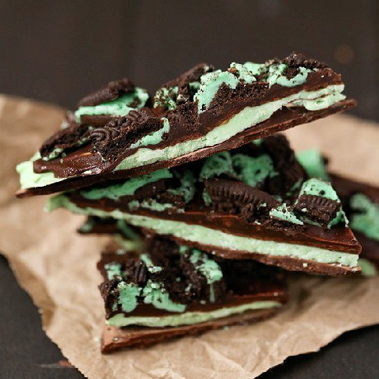 This easy and festive bark features mint and cake batter flavors for a delicious treat!