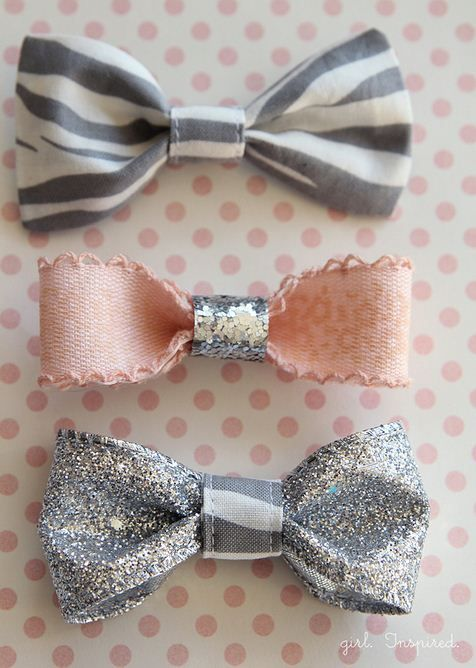 FREE Sewing Tutorial | #DIY Hair Bows from @Stefanie (Girl. Inspired.)