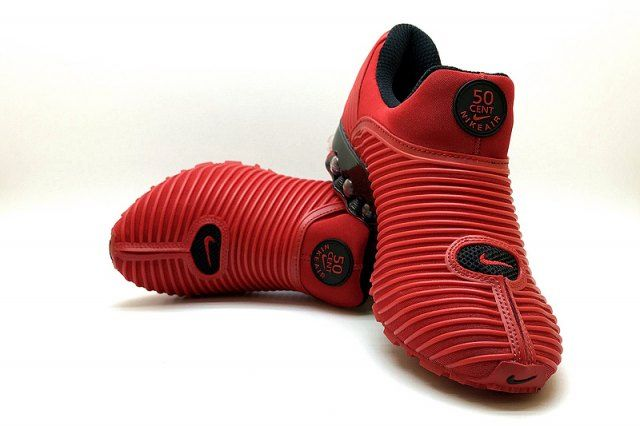 dde8fa78a4 Advanced Design Nke Air Max Plus v 50 Cent Shox KPU October Red Black Shox  Nz Mens Athletic Running Shoes Trainers NIKE010643
