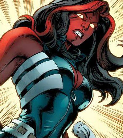 Red She-Hulk by Mark Bagley