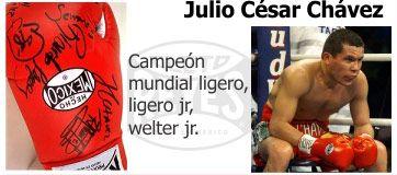 Перчатки Cleto Reyes, подписанные Хулио Сезаром Чавесом.