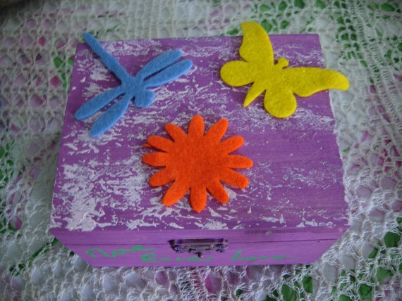 Love Lives Here  mixed media art wooden box/treasury by eltsamp, $20.00