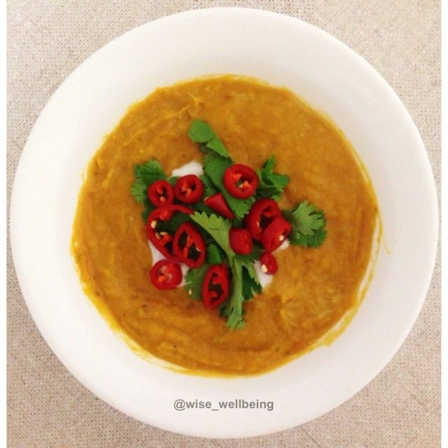 Thai Sweet Potato + Pumpkin Soup from Round 3 of the I Quit Sugar 8-Week Program.