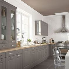 Ikea kitchen bodbyn grey google search cuisine - Cuisine candide taupe ...