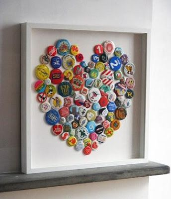Faith Hope and Charity Shopping: Ta-dah! Tuesday - Badge Heart Art. At last a way to display all the girls badges