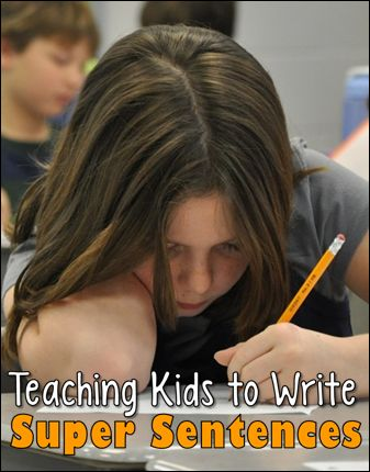 Teaching Kids to Write Super Sentences - Strategies and free seasonal printables to encourage students to add detail to their sentences.