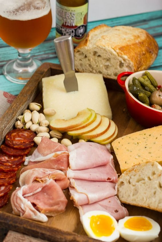 How to create a Ploughman's Platter for a Party from The Girl In The Little Red Kitchen #SundaySupper