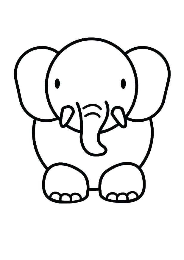 Baby Animal Coloring Pages Baby Animal Drawings Elephant Coloring Page Cute Easy Drawings