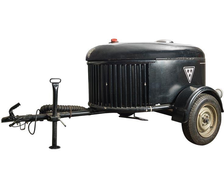 Gasgenerator in een aanhangwagen, uitgevonden door Maus Gatsonides, waarmee autoís zonder benzine kunnen rijden.