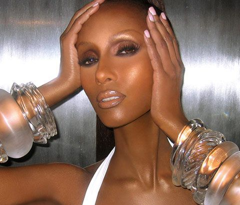 Sam Fine (IMAN) and those LUCITE bracelets are FIYAH!
