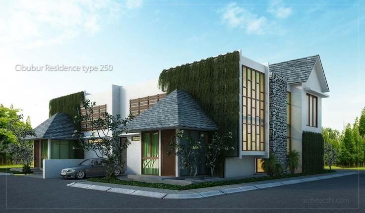 desain rumah sudut hook minimalis 2 lantai type 250