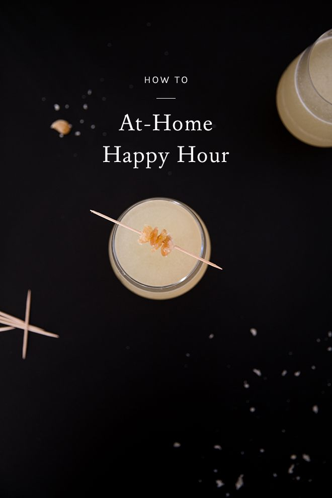 looking for some simple entertaining ideas this summer? click through for a guide to staying in and hosting your own happy hour at home.
