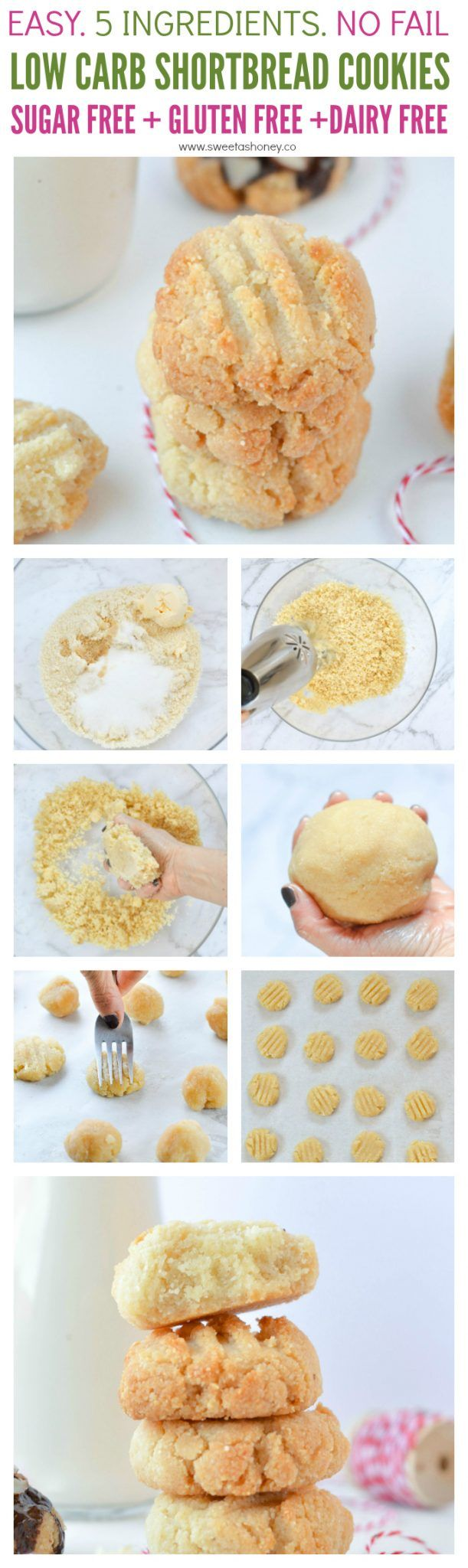 Low carb shortbread cookies – Vegan + Gluten free
