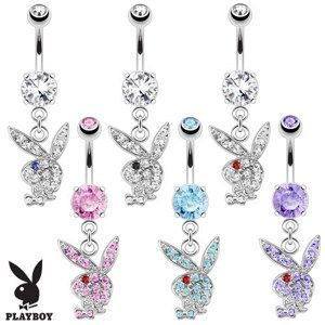 Piercing nombril Playboy 01 - Lapin pendant