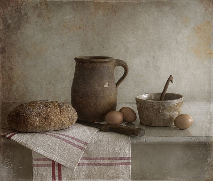 Tineke Stoffels - Still Life With Bread And Eggs, processing by Tineke Stoffels