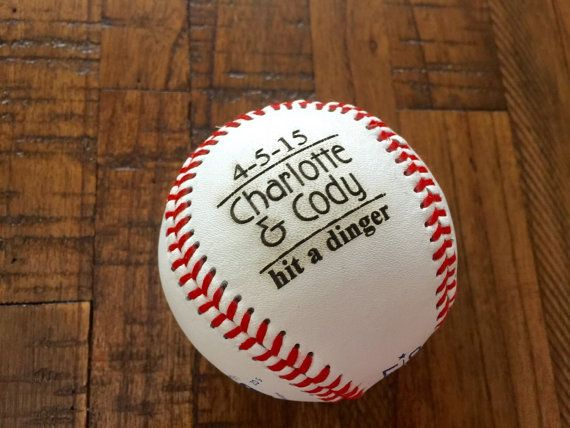 For all the baseball lovers, coaches, players, parents, kids, etc. Personalize this baseball with anything youd like. This listing includes ONE (1) personalized baseball. You can select any quantity. For large orders, send us a message for a custom listing.  ***100 character limit ***  1 engraved baseball (brand new, leather softball)   After you add this item to your cart, you will see an option to include a Note to Happyism. Please include the following information in this section:  1…