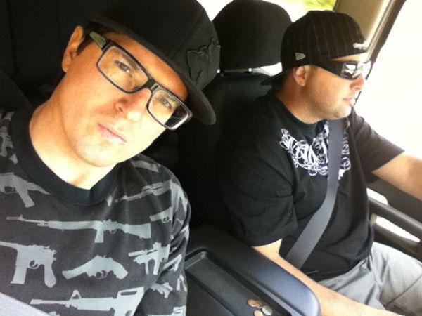 Ghost Adventures: Zak Bagans and Billy Tolley.  I love Zak's shirt!!
