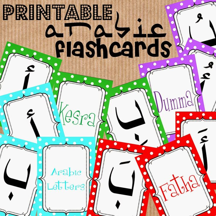 Arabic alphabet flashcards with harakat