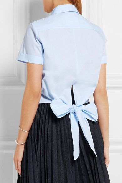 bow back blouse