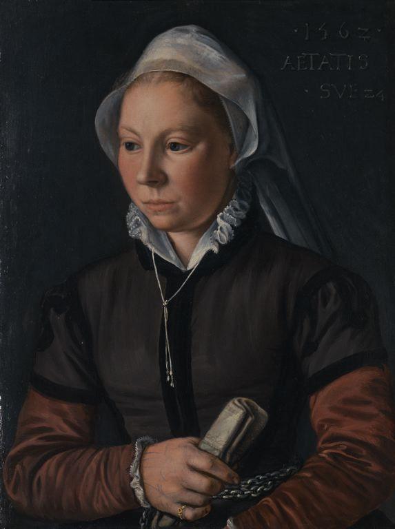 Portrait of a Young Woman by Joachim Beuckelaer, 1562