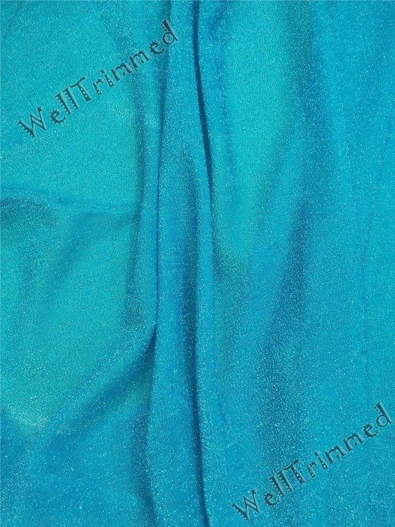 Congelés tissu, paillettes tissu congelé, Elsa Fabric, Costume tissu, tissu bleu pour costume Reine Elsa FZ62005