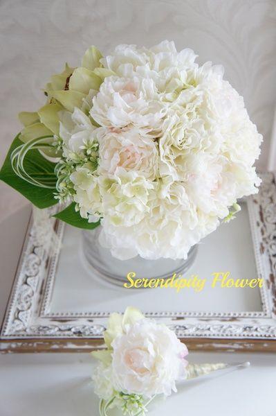 Serendipity Flower(セレンディピティフラワー)  芍薬とアンスリウムのブーケ♡