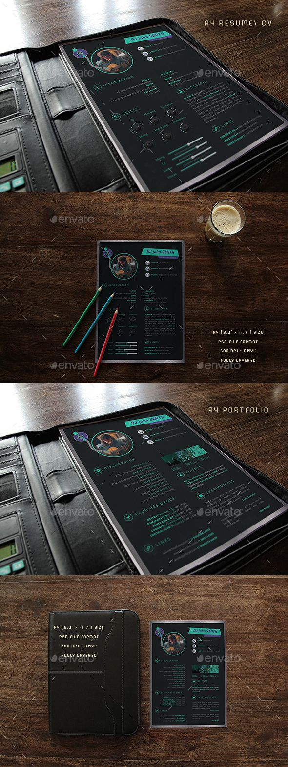 DJ Resume Press Kit by Fadeink DJ Resume Press Kit DJ Resume Press Kit is a modern, clean and professional resume cv template best suited for djs, music producer