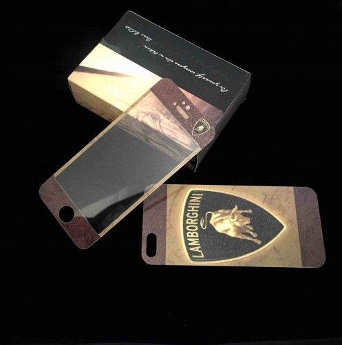 Iphone 5/5s Lamborghini Designer Tempered Glass Case Cover