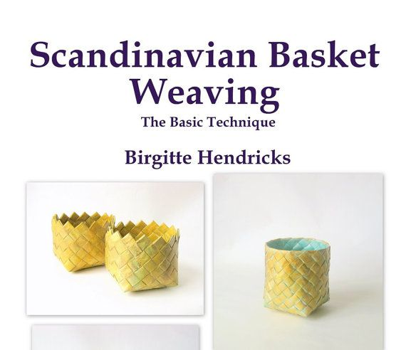 PDF ePattern Scandinavian Basket Weaving Basic by SewDanish, $8.95