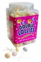 Double Lollies -  Sweet Tart Suckers. 200 unwrapped lollies per jar.