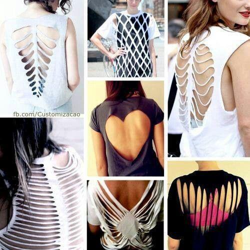Cut/weave reconstruction shirts: