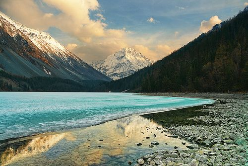 Sunset at Kucherla lake, Altay mountains