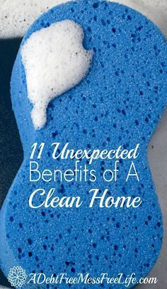 These 11 unexpected cleaning benefits are AWESOME! I've found so many of these tips on the list give me the motivation to keep my home SPARKLING CLEAN! Don't you want to enjoy the benefits too? They are so GREAT!