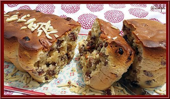 recette Cake aux raisins, noisettes et amandes