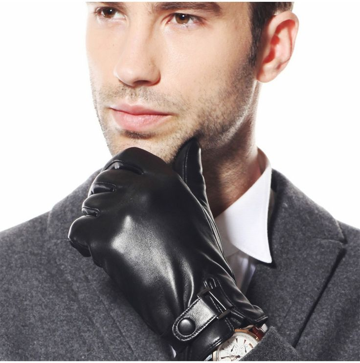 ==> [Free Shipping] Buy Best Black Genuine Leather Glove Winter Short Suede Glove For Men Fashion Female XL L M S New Guante de cuero 1 Pair/lot Online with LOWEST Price | 32567083672