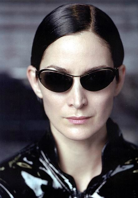 Carrie Ann Moss as Trinity in The Matrix.