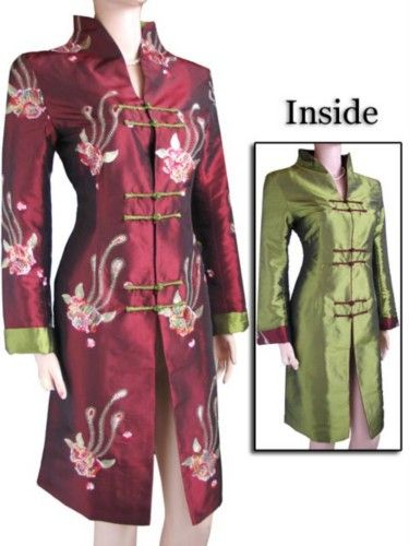 Plus Size Oriental Blouses | Oriental Chinese Evening Jacket Coat Blouse Plus Size TL72