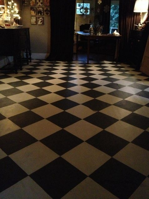 How to Paint a Classic Checkerboard Floor