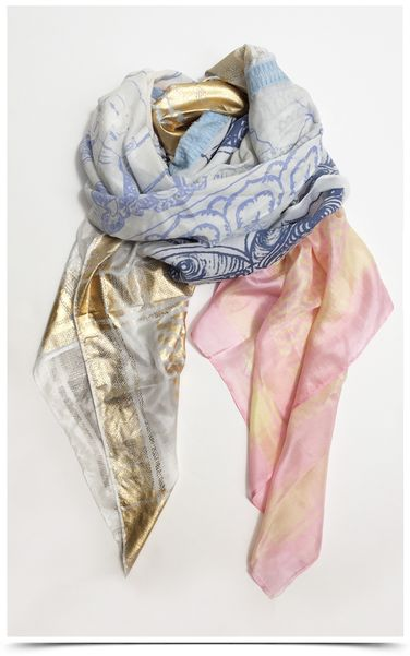 yippie hippie white charming scarves