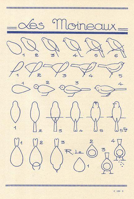 desenho pássaros