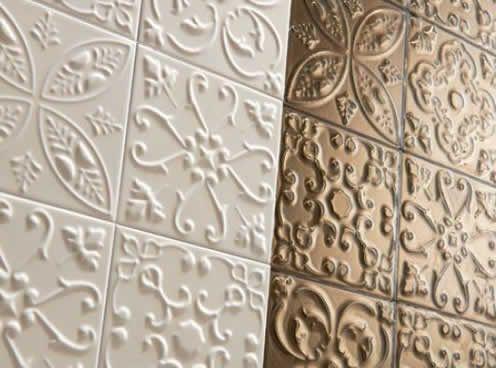 Ceramic Porcelain Tile That Looks Like Decorative Tin