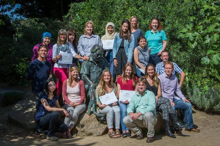 Here are our 2015 group with Lee Durrell at the iconic Gerald Durrell statue in the Wildlife Park.