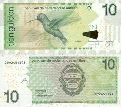 10 Gulden Netherlands Antilles's Banknote