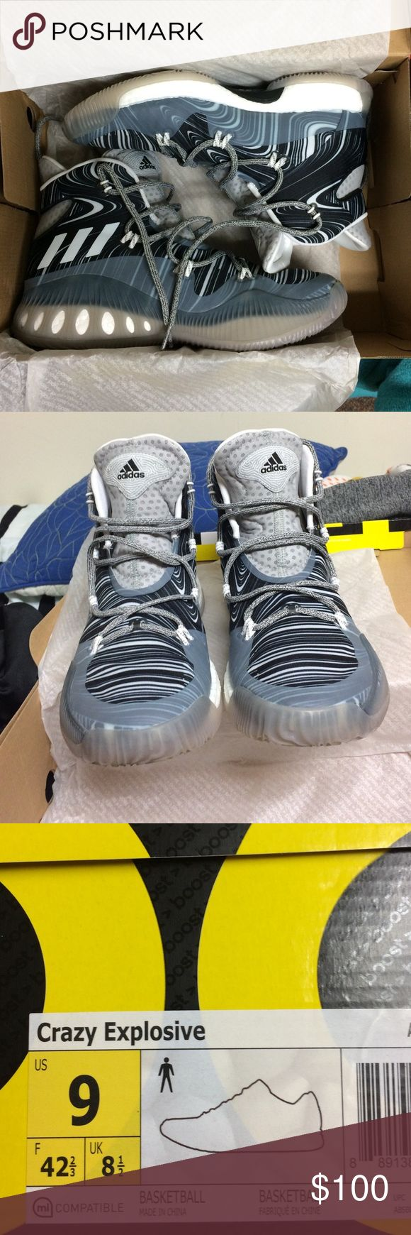 Men's Adidas Crazy Explosive Basketball Shoe These are the latest Adidas Crazy Explosive Basketball shoe! Fairly new, and only worn a few times. All the original packaging included Adidas Shoes Athletic Shoes