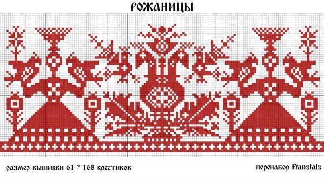 славянская вышивка схемы - Пошук Google