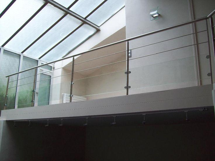 Escalissime - Nos escaliers, Garde-corps, inox et verre sur pinces