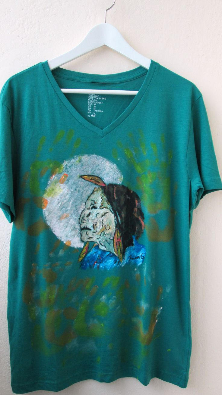 """""""Give me knowledge so I may have kindness for all"""" -Indian quote  Hand painted t-shirt"""